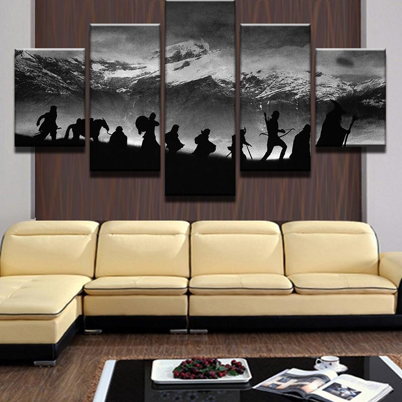 Online Shop Modular Wall Art Oil Pictures Frame Modern Home Decor Intended For Modular Wall Art (View 19 of 20)