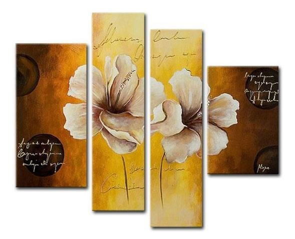 Opening Flowers Canvas Wall Art – Cheap Floral Canvas Art Within Cheap Wall Canvas Art (Image 10 of 20)
