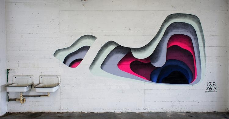 Optical Illusion Muralsanonymous Street Artist | Vuing For Optical Illusion Wall Art (View 20 of 20)