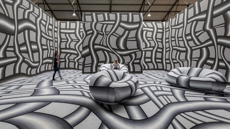 Optical Illusion Roomspeter Kogler Will Give You Vertigo Intended For Optical Illusion Wall Art (View 4 of 20)