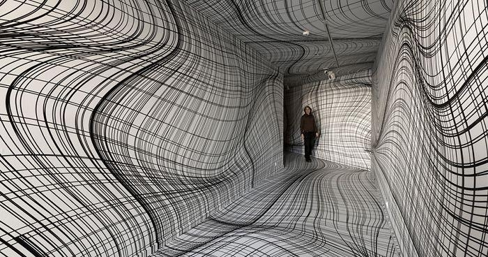 Optical Illusion Roomspeter Kogler Will Give You Vertigo Throughout Illusion Wall Art (View 19 of 20)