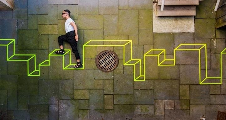 Optical Illusion Street Art | Fresh Creativity Throughout Illusion Wall Art (Image 16 of 20)