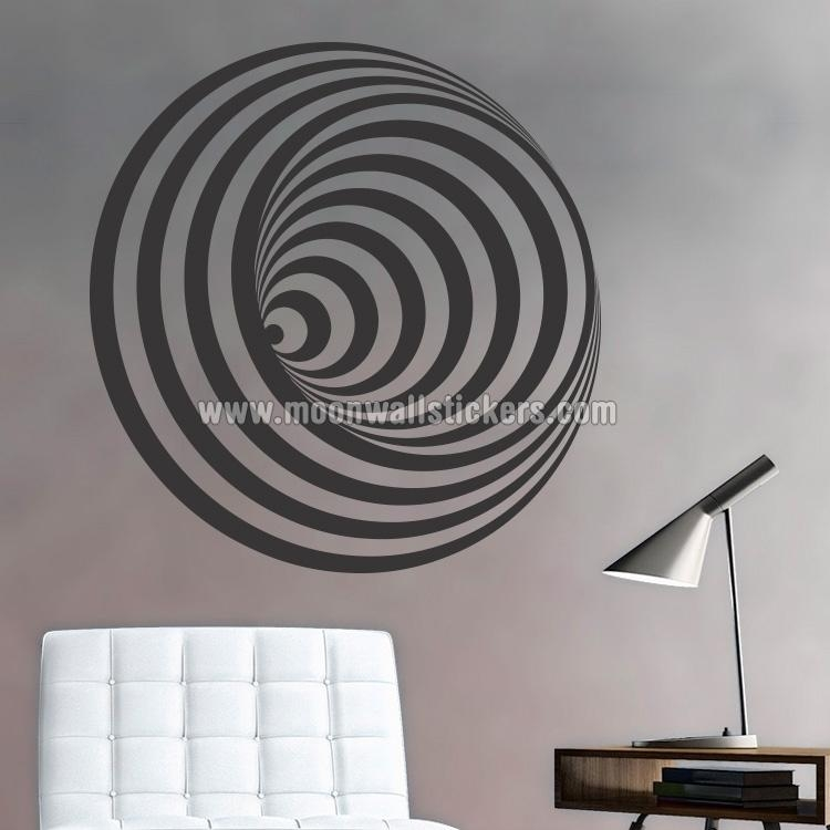 Optical Illusion Wall Decals – Wall Murals You'll Love With Regard To Illusion Wall Art (Image 17 of 20)