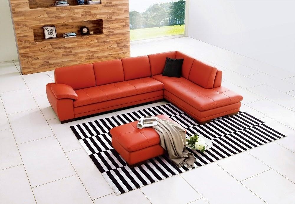 Orange Couch: Orange Leather Couch Throughout Burnt Orange Leather Sofas (View 18 of 20)