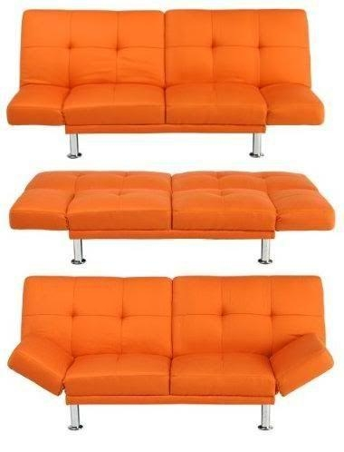 Orange Futon/couch From Target | I Have Always Wanted Regarding Target Couch Beds (Image 15 of 20)