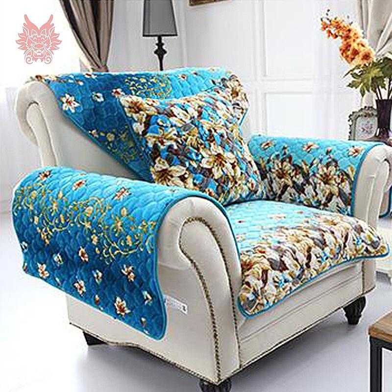 Orange Sofa Slipcover Promotion Shop For Promotional Orange Sofa In Blue Slipcovers (View 15 of 20)