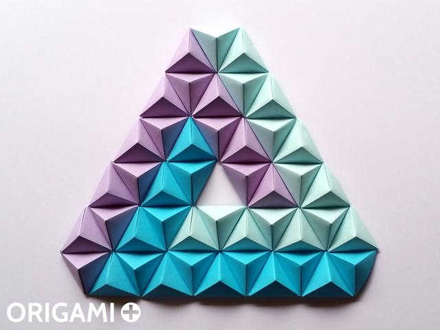 Origami Pyramid Pixels For 3D Paper Wall Art For 3D Paper Wall Art (View 13 of 20)