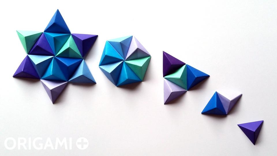 Origami Pyramid Pixels For 3D Paper Wall Art In 3D Paper Wall Art (View 10 of 20)