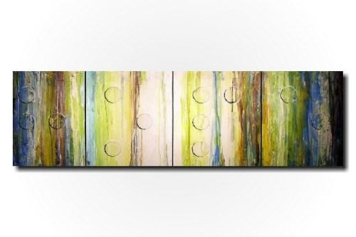 Original Large Abstract Braille Painting – 20 X 64 Inches By In Large Green Wall Art (View 7 of 20)