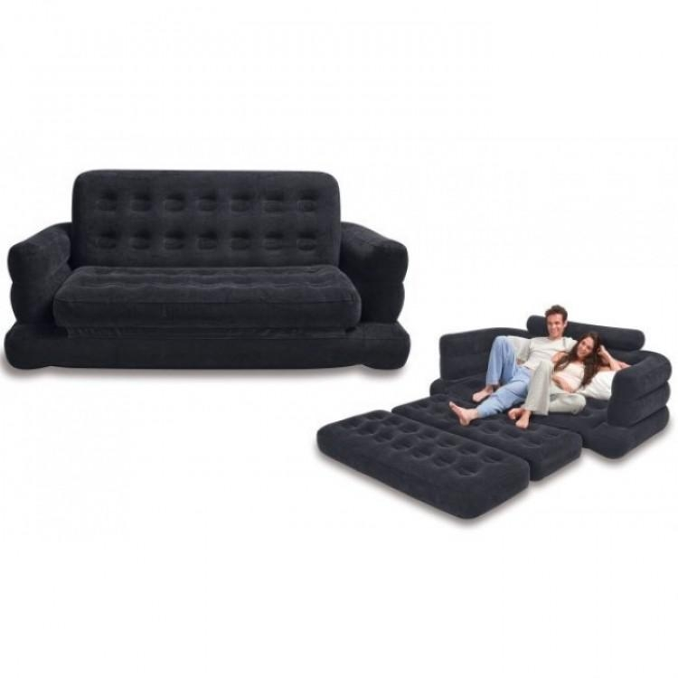 Original Velvet Inflatable Sofa Extra Large Pull Out Sofa Cum Bed With Regard To Inflatable Pull Out Sofas (Image 19 of 20)