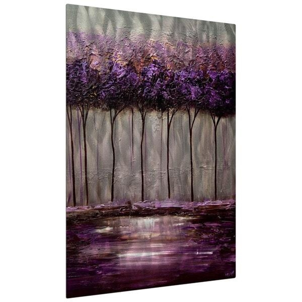 Osnat 'purple Scent 1' Metal Wall Art – Free Shipping Today Intended For Purple Wall Art (View 11 of 20)