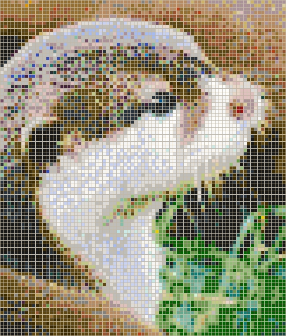 Otter Face – Framed Mosaic Wall Art With Pixel Mosaic Wall Art (Image 13 of 20)