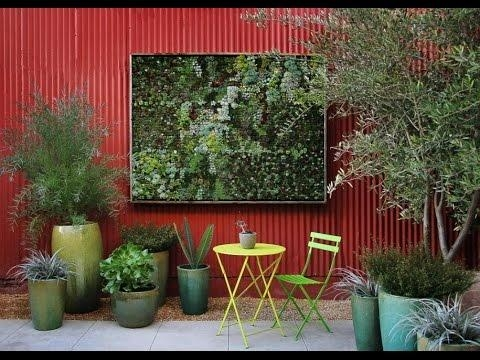 Outdoor Wall Art – Easy To Make Outdoor Wall Art – Youtube For Outside Wall Art (Image 16 of 20)