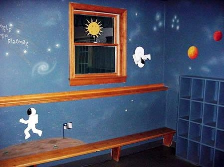 Outer Space Bedroom Murals | Stencil Search In Space Stencils For Walls (Image 16 of 20)