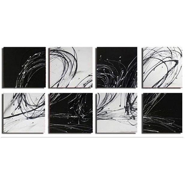 Oversized Abstract Canvas Wall Art Sets Within Black And White Wall Art Sets (Image 13 of 20)