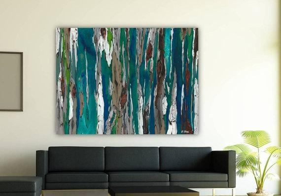 Oversized Blue Canvas Print Extra Large Wall Art Dining Room Pertaining To Large Teal Wall Art (Image 14 of 20)