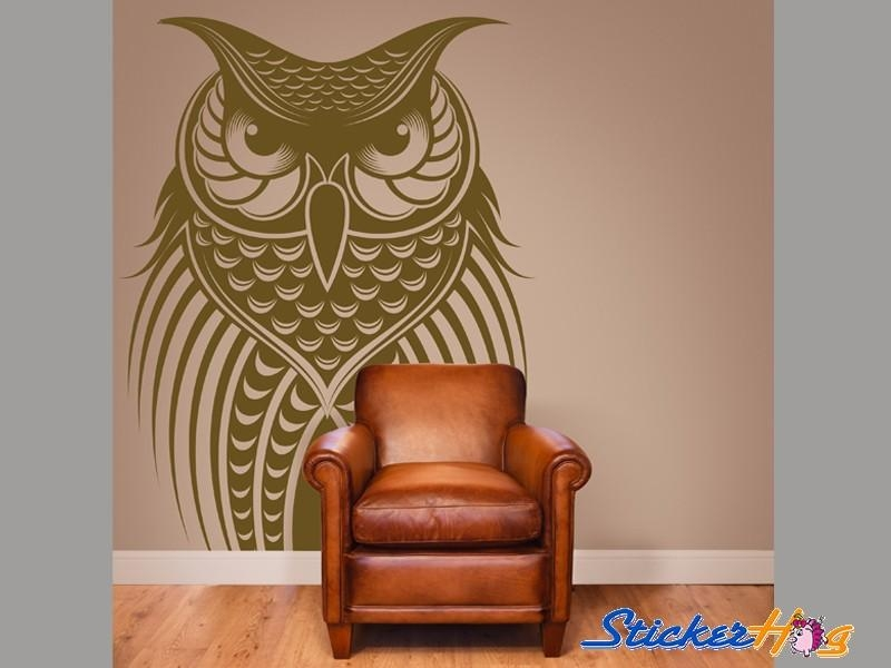 Owl Bird Vinyl Wall Art Decals In Owl Wall Art Stickers (View 10 of 20)