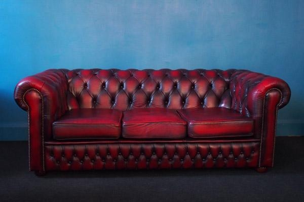 Oxblood Chesterfield Sofa – Hand Built Exceptional Quality For Red Leather Chesterfield Chairs (View 12 of 20)
