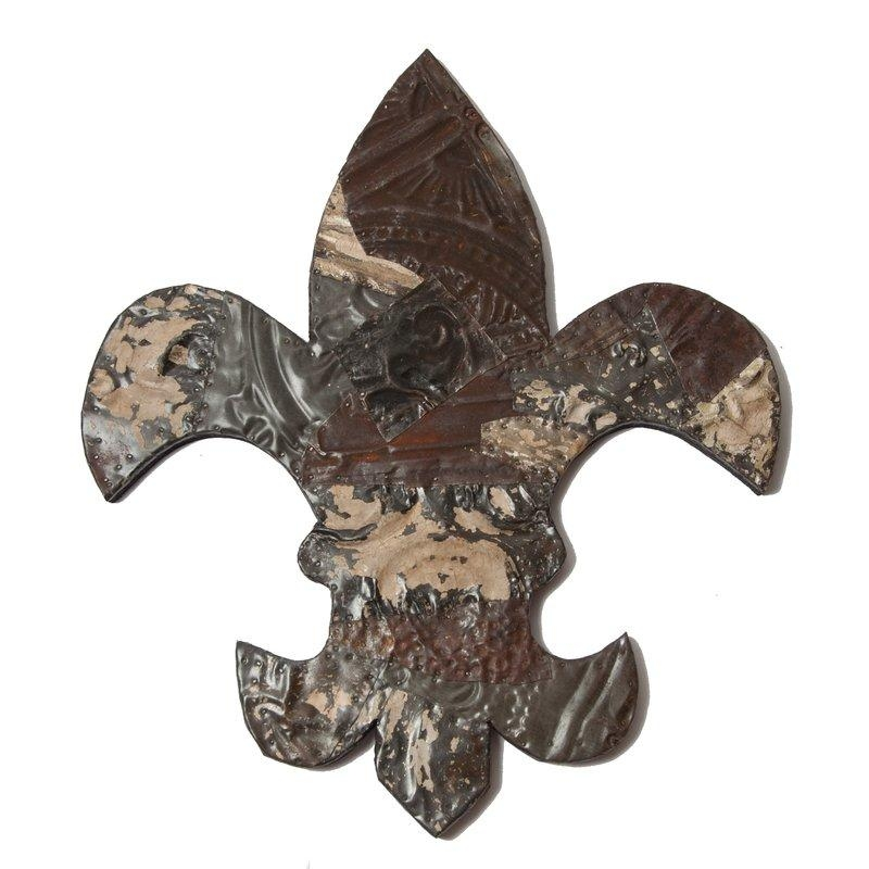 Ozark Folk Art Antique Tin Fleur De Lis Wall Art | Wayfair With Regard To Metal Fleur De Lis Wall Art (View 16 of 20)