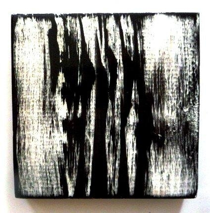 Painted Wood Wall Art Sculpture Blocks Black, White, Silver Modern With Black Silver Wall Art (View 14 of 20)