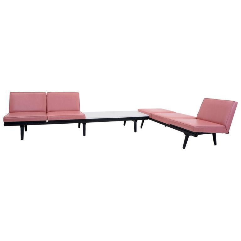 Pair Of George Nelson For Herman Miller Steel Frame Sofas Throughout George Nelson Sofas (Image 15 of 20)