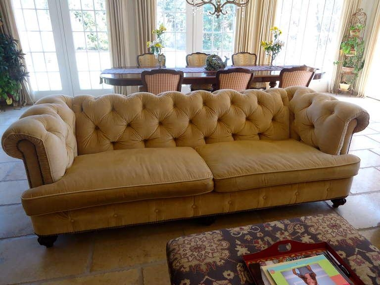 Pair Of Large Sumptuous Custom Corduroy Chesterfield Sofas At 1Stdibs Inside Brown Corduroy Sofas (Image 15 of 20)