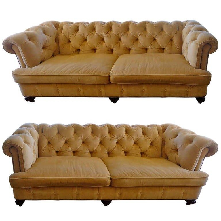 Pair Of Large Sumptuous Custom Corduroy Chesterfield Sofas At 1Stdibs With Regard To Brown Corduroy Sofas (View 11 of 20)