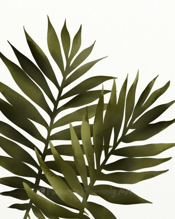 Palm Leaf 8 X 10 Print Tropical Decor Green Wall Art Regarding Palm Leaf Wall Decor (Image 10 of 20)