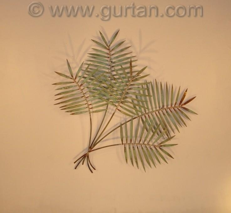 Palm Leaf – Wall Art – Metal Sculpture – Metal Decor With Palm Leaf Wall Decor (Image 9 of 20)