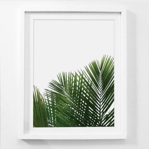 Palm Leaf Wall Art Palm Frond Art Framed Botanical Prints Regarding Palm Leaf Wall Art (View 2 of 20)