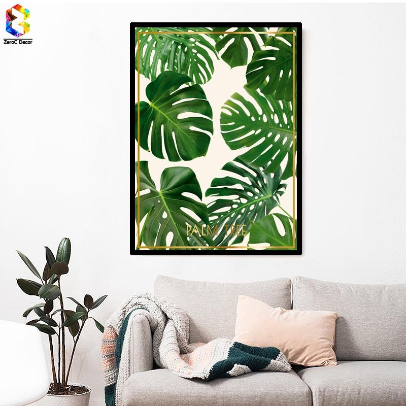 Palm Leaf Wall Art Promotion Shop For Promotional Palm Leaf Wall For Palm Leaf Wall Decor (Image 12 of 20)