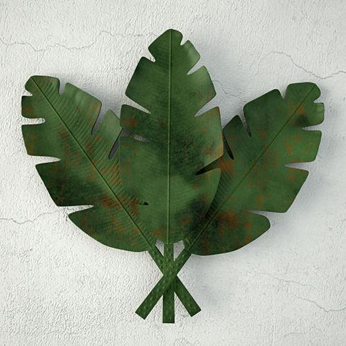 Palm Leaves Metal Wall Art 3D Model | Cgtrader Pertaining To Palm Leaf Wall Art (View 13 of 20)