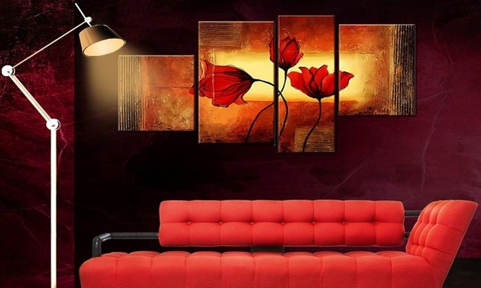 Panel Wall Art | Groupon Goods Throughout Multiple Panel Wall Art (Image 12 of 20)