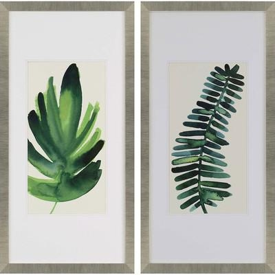 "Paragon ""palm Leaves I"" 2 Piece Framed Wall Art Set 