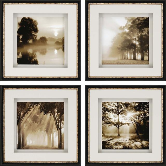 Paragon Photography Contemporary Reflections Pack Of 4 Wall Art Inside Wall Art Print Sets (View 9 of 20)