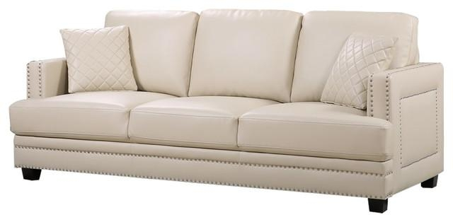 Featured Image of Beige Leather Couches
