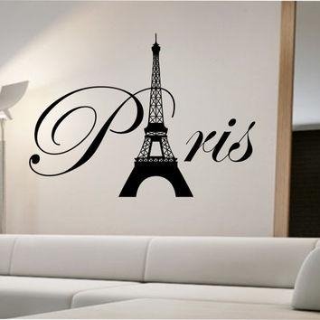 Paris Eiffel Tower Wall Decal Sticker Art From Stateofthewall On For Eiffel Tower Wall Hanging Art (View 15 of 20)