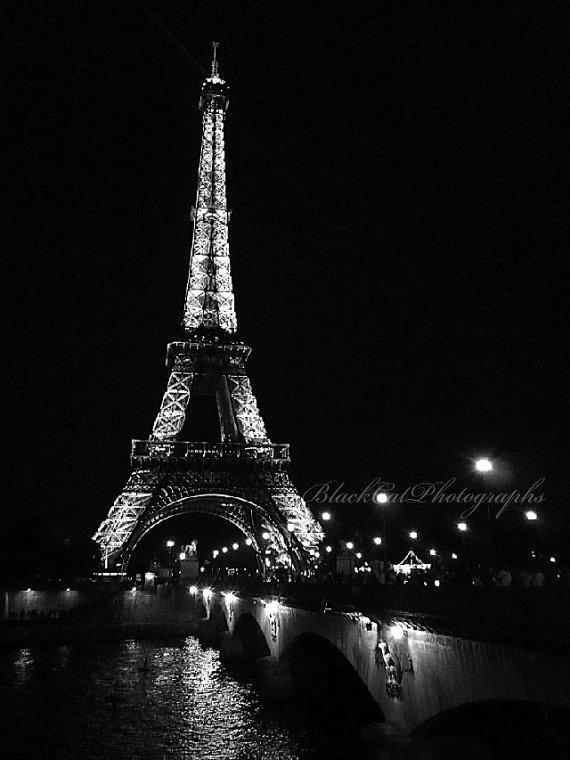 Paris Picture Paris Eiffel Tower Photo Black And White Pertaining To Black And White Paris Wall Art (View 3 of 20)