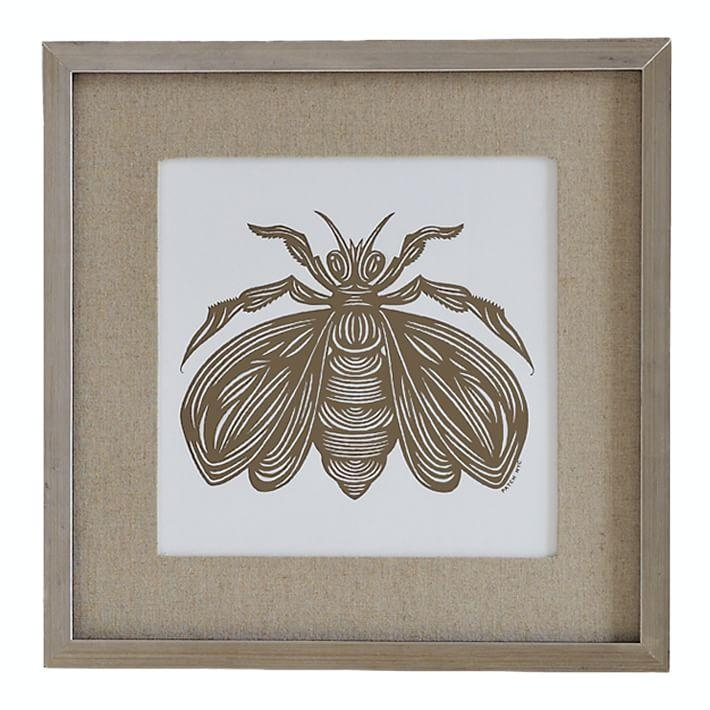 Patch Nyc Framed Wall Art, Insect | West Elm Pertaining To Insect Wall Art (View 18 of 20)