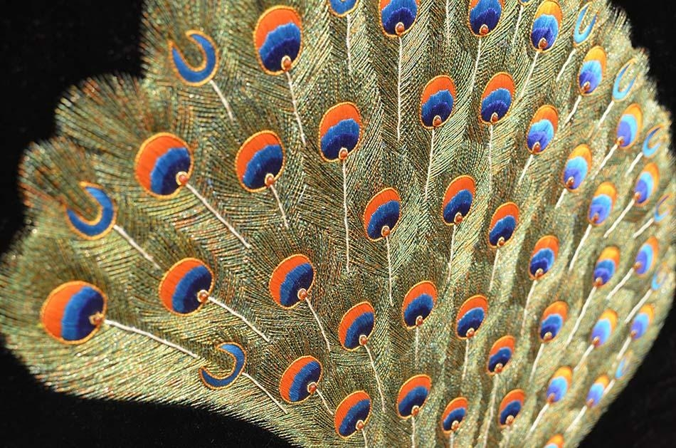 Peacock Wall Art Decorative Panel Jewel Art Tapestry Or Wall Inside Jeweled Peacock Wall Art (Image 14 of 20)
