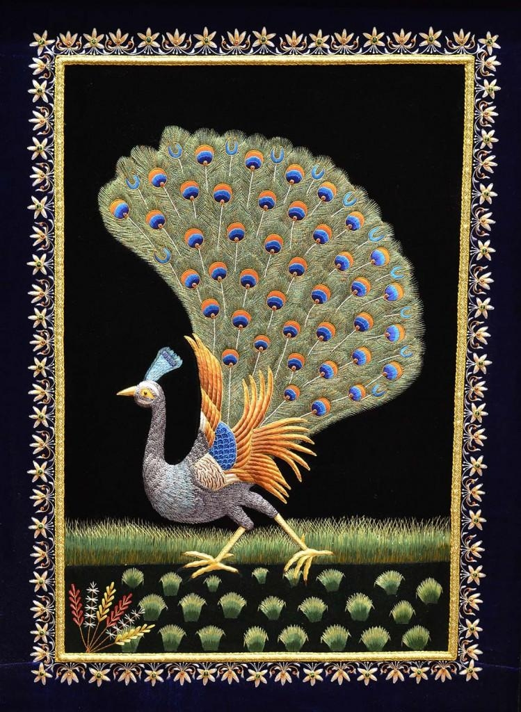 Peacock Wall Art Decorative Panel Jewel Art Tapestry Or Wall With Regard To Jeweled Peacock Wall Art (Image 15 of 20)