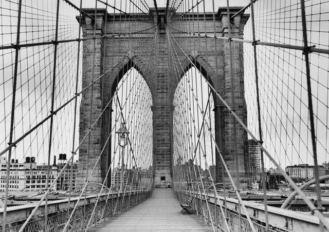 Pedestrian Walkway On The Brooklyn Bridge – Peel And Stick Within Brooklyn Bridge Wall Decals (Image 15 of 20)
