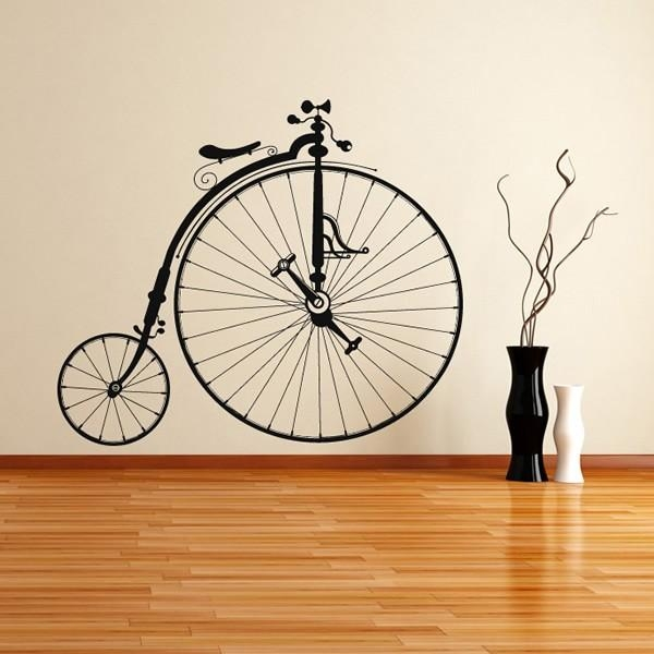 Penny Farthing Wall Stickers Bike Wall Art Regarding Cycling Wall Art (Image 14 of 20)