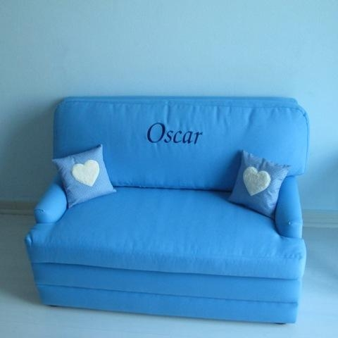 Personalised Child's Sofa Bed, Blue – 2, (Image 13 of 20)