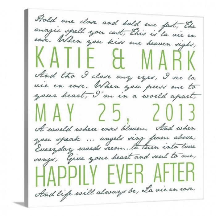 Personalized Gifts Photo Canvas Word Art Weddinggeezees Canvas Art For Custom Canvas Art With Words (Image 7 of 20)