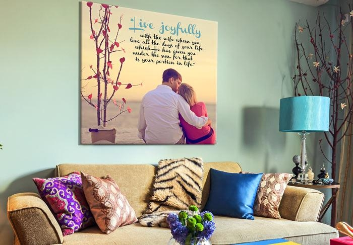 Personalized Gifts Photo Canvas Word Art Weddinggeezees Canvas Art Pertaining To Custom Canvas Art With Words (View 6 of 20)