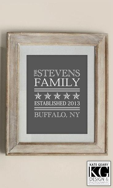 Personalized Last Name Wall Art Fancy Wall Art Decals On Framed In Last Name Framed Wall Art (Image 16 of 20)