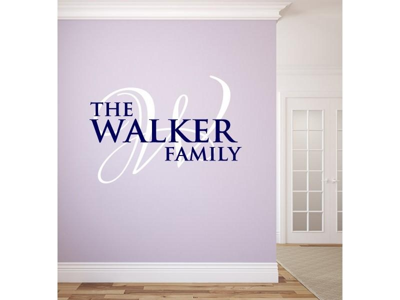 Personalized Monogram And Name Wall Decals With Personalized Last Name Wall Art (View 15 of 20)