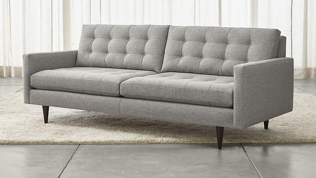 Petrie Mid Century Sofa | Crate And Barrel With Regard To Crate And Barrel Futon Sofas (Image 14 of 20)