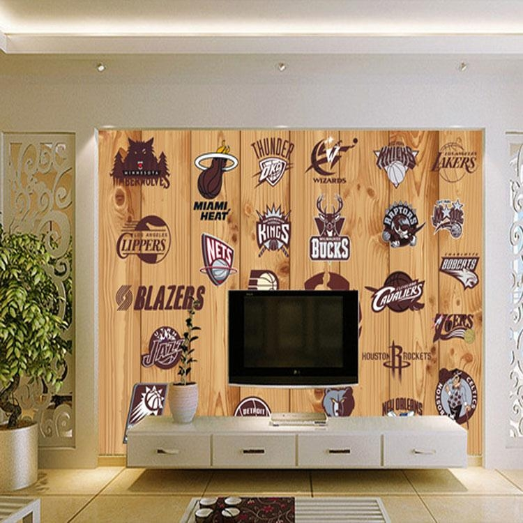 Photo Mural Wallpaper Picture – More Detailed Picture About 5D For Nba Wall Murals (Image 18 of 20)